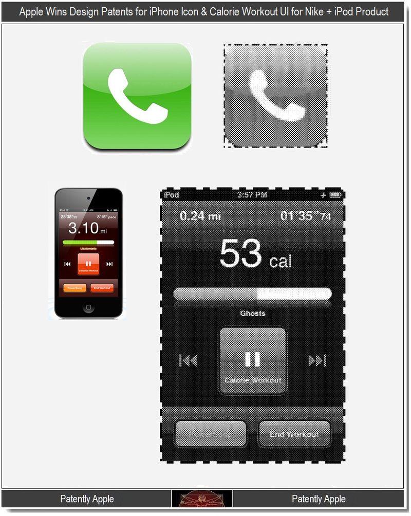 6 - Apple Wins Design Patents, iPhone Icon, Calorie Workout UI