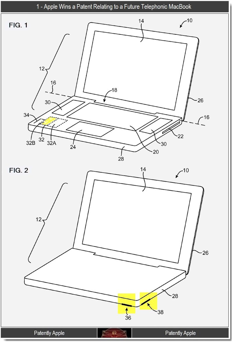 2 - Telephonic MacBook, Antenna locations