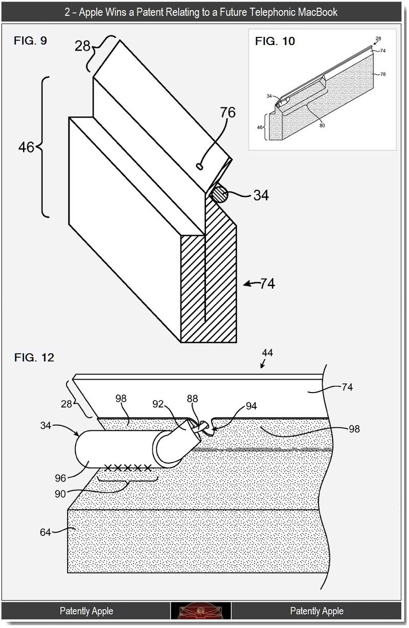 3 - Telephonic MacBook antenna structures