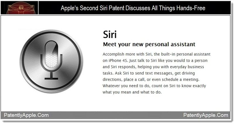 1 - Apple's Second Siri Patent Discusses All Things Hands-Free
