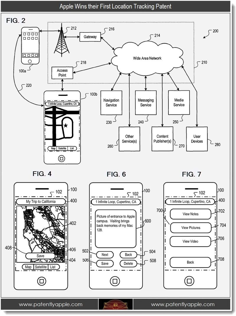 2 - Apple wins first location tracking patent