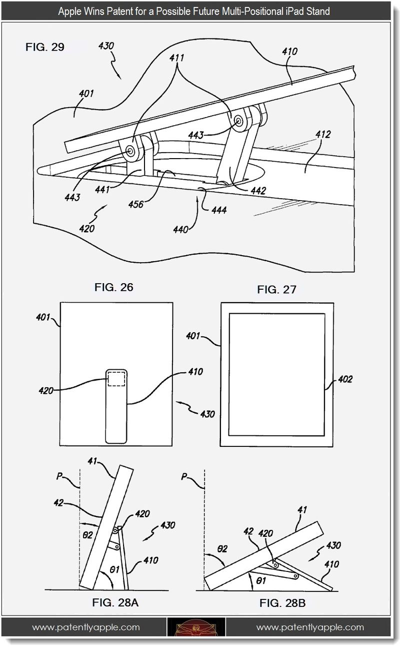 3 - Apple wins patent for possible future multi-positional iPad stand