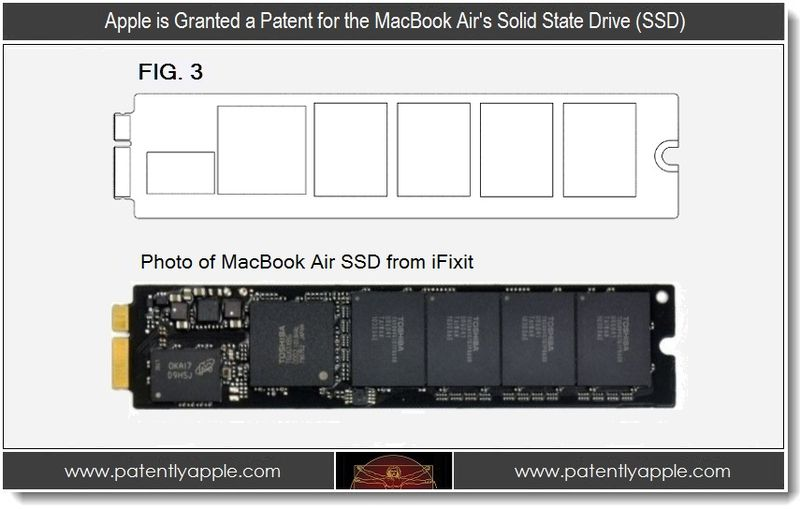 3 - Apple Granted patent for MacBook Air SSD
