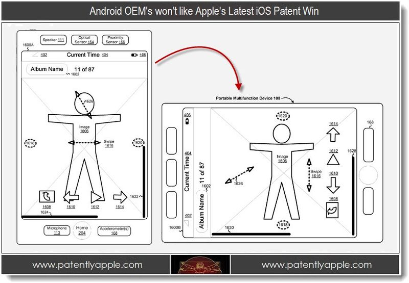 1 - Android OEM's won't like Apple's Latest iOS Patent Win