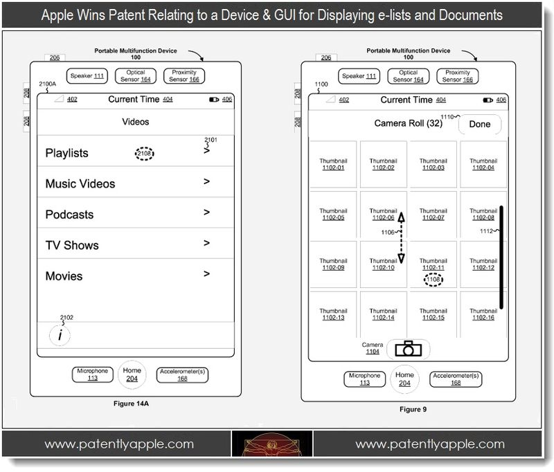 2 - Apple, patent, Device & GUI for Displaying e-lists and docs
