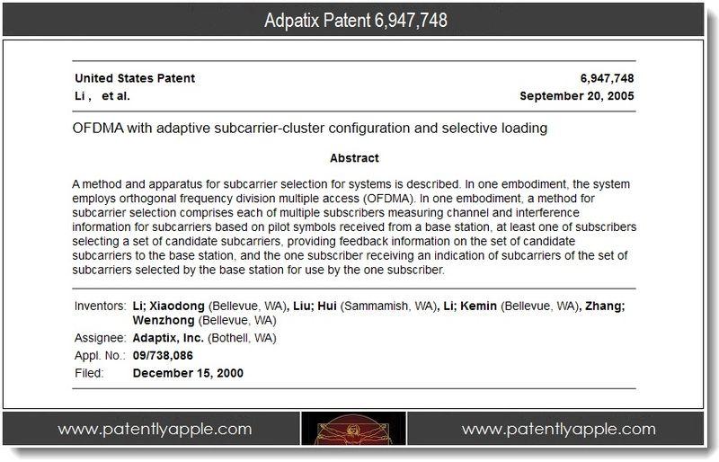 3 - adaptix patent 6,947,748