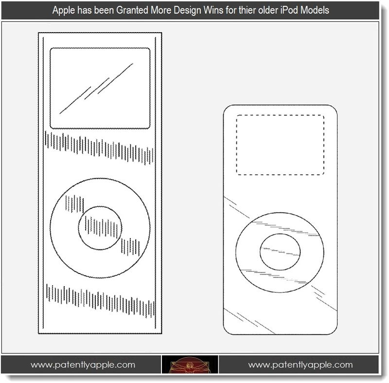 6 - Apple is granted 3 more patent wins for older iPod designs