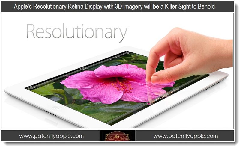 4 - Apple's resolutionary Retina Display with 3D imagery will be a Killer Sight to Behold