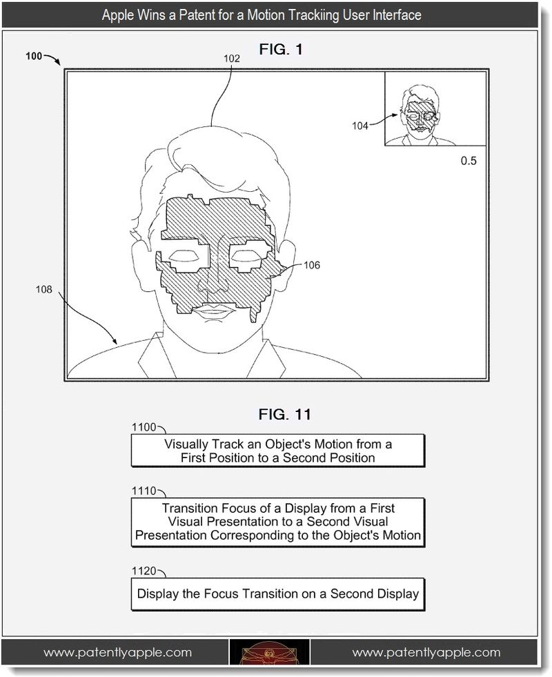 2 - Apple Wins a Patent for a Motion Tracking User Interface