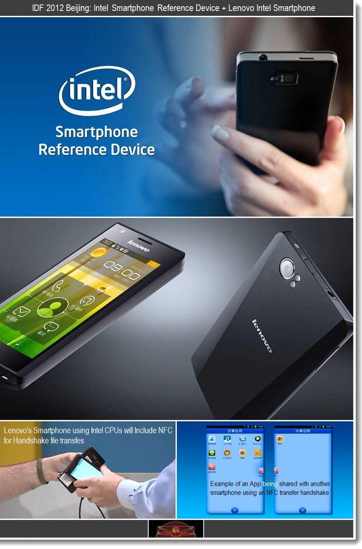 2 - IDF 2012 BEIJING Intel smartphone reference device + Lenovo Intel Smartphone