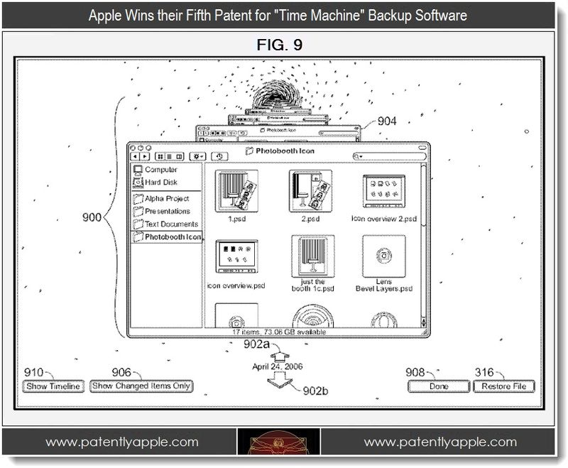 3 - Apple Wins fifth patent for time machine backup software