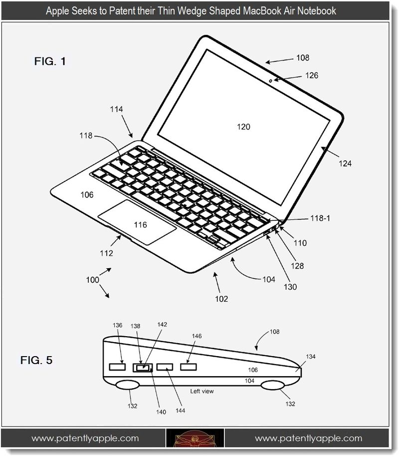5 - Apple Seeks to patent Macbook Air