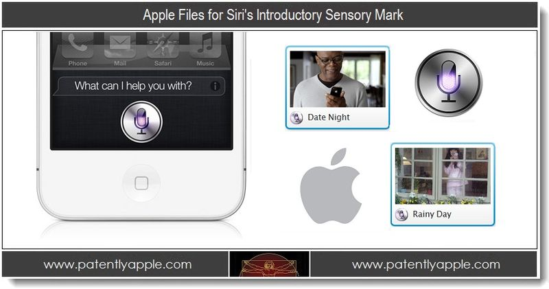 1 - Apple files for Siri's introductory Sensory Mark