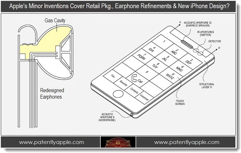 1. Apple, inventions cover retail pkg., earphone refinements & new iphone design