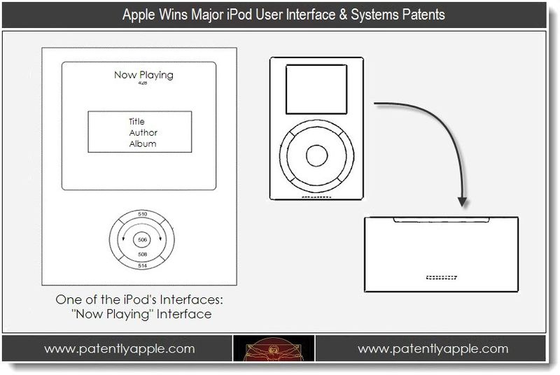 1. Apple Wins Major iPod User Interface & Systems Patents