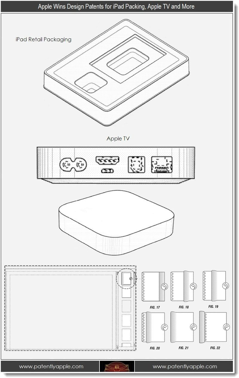 3. Apple Wins design patents for iPad packaging, Apple TV and more