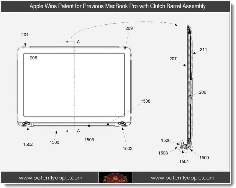 5. Apple wins patent for previous MacBook Pro with Clutch barrel assembly