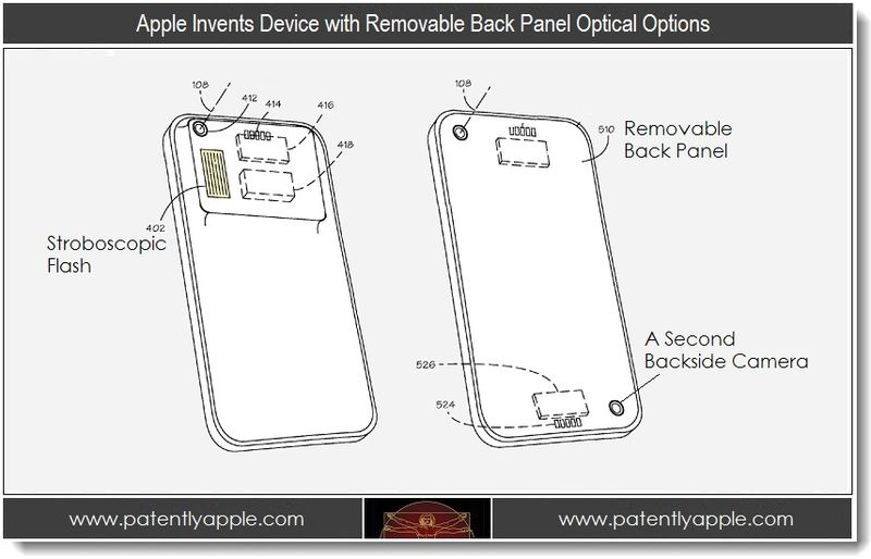 1. Apple Invents Device with Removable Back Panel Optical Options