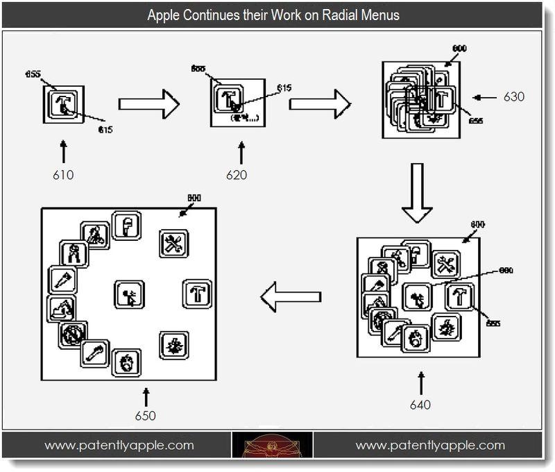 3. Apple Continues their Work on Radial Menus