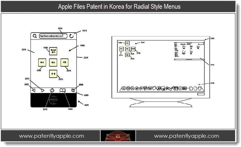 1. Apple Files Patent in Korea for Radial Style Menus