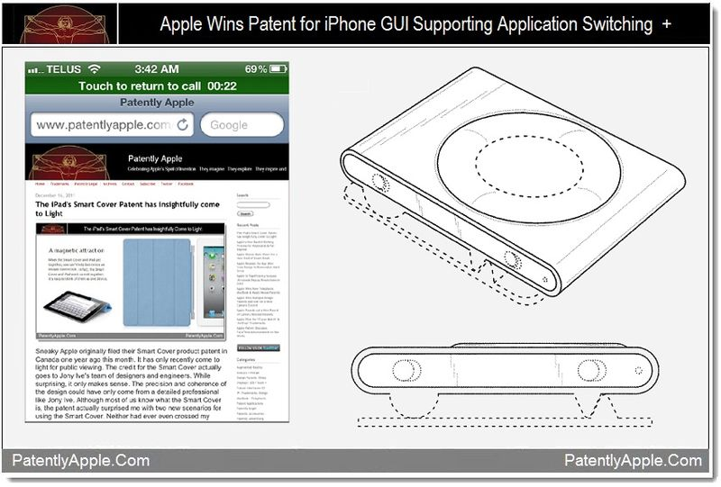 1 - Apple patent, iphone GUI supporting application switching