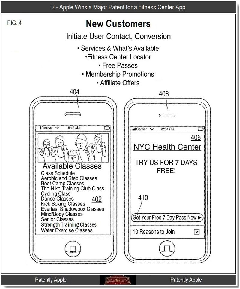 3 - Apple Wins Fitness Center App, Patent 2011