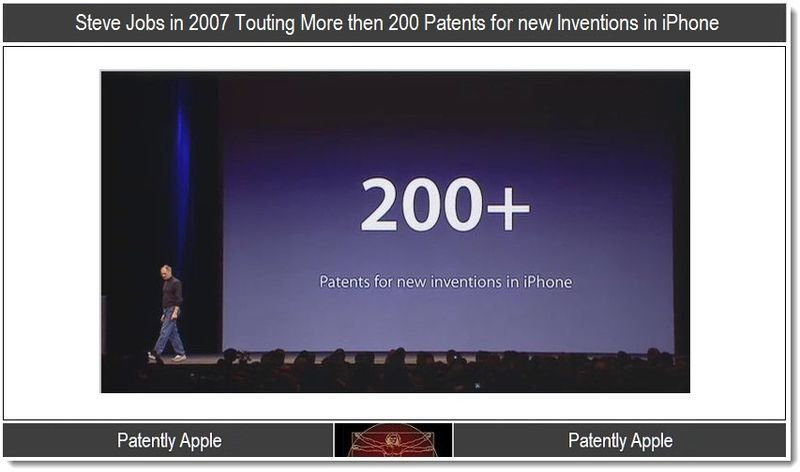 2 - Steve Jobs in 2007 touting 200 + inventions in iPhone patents