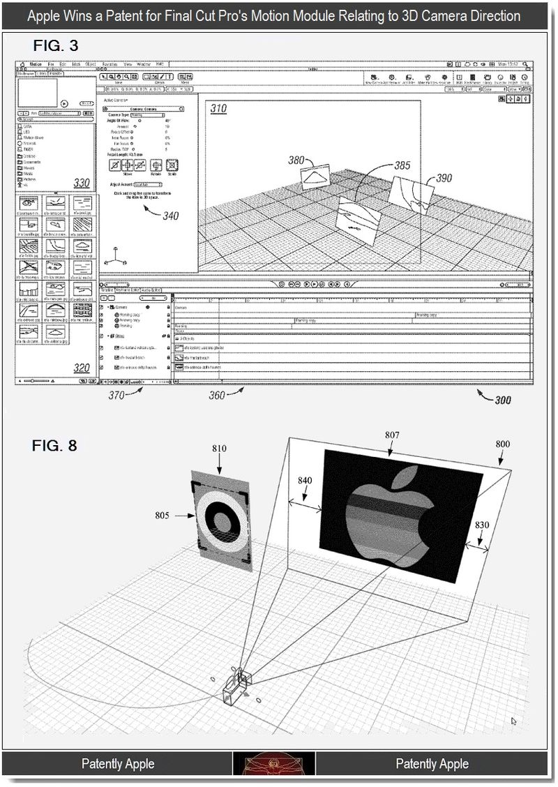 4 - Apple Wins Patent, Final Cut Pro Motion Module, 3D Camera Direction