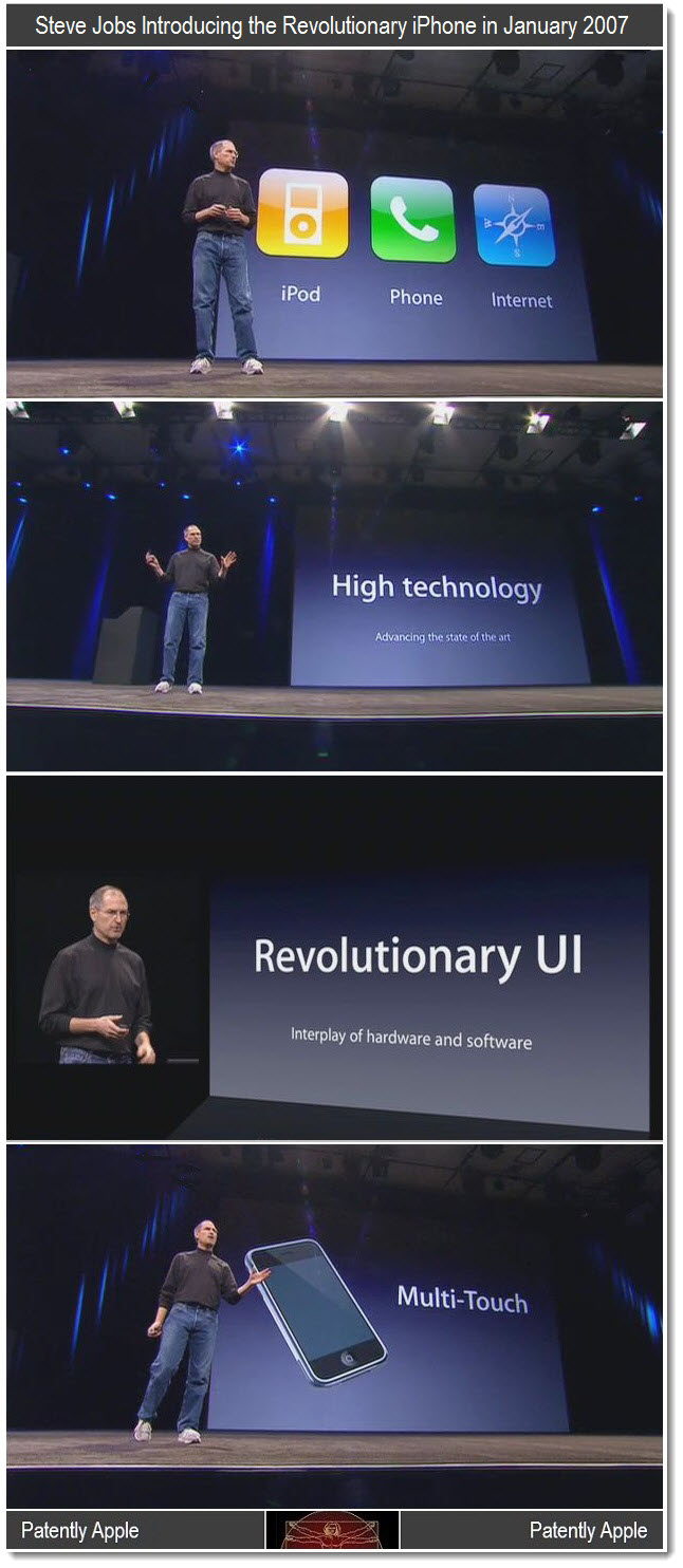 4 - CLASSIC - Macworld 2007 Steve Jobs Keynote collage re iPhone