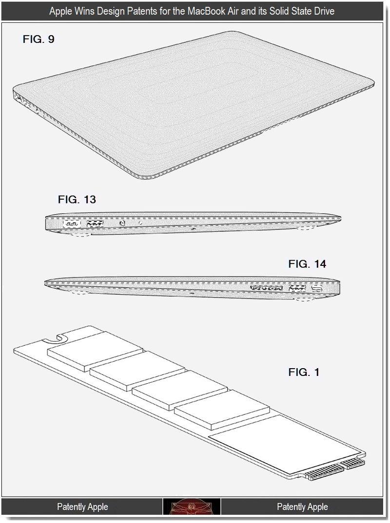 5 - Apple Wins Design Patents, MacBook Air & SSD