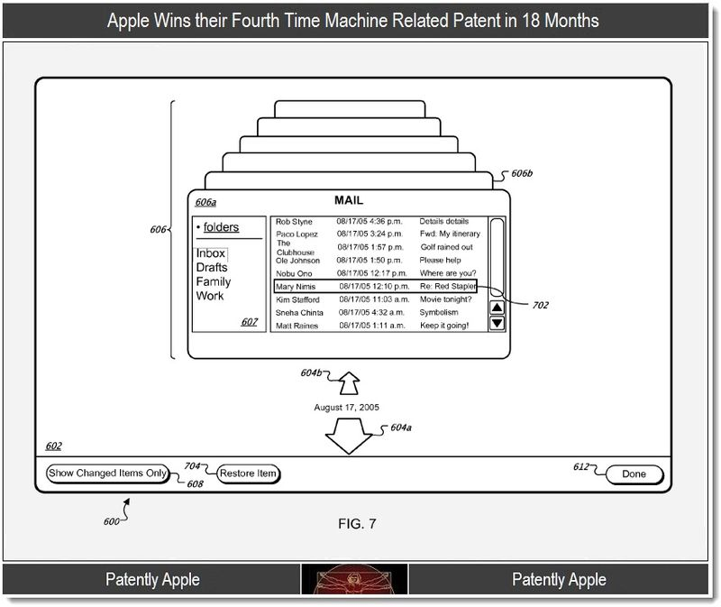 5 - Time Machine patent, Apple, Jan 2012