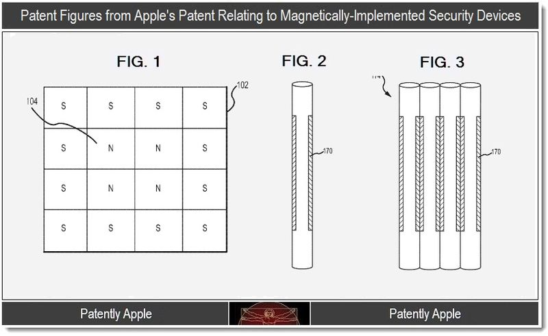 2 - patent figures from Apple's patent on coded magnets