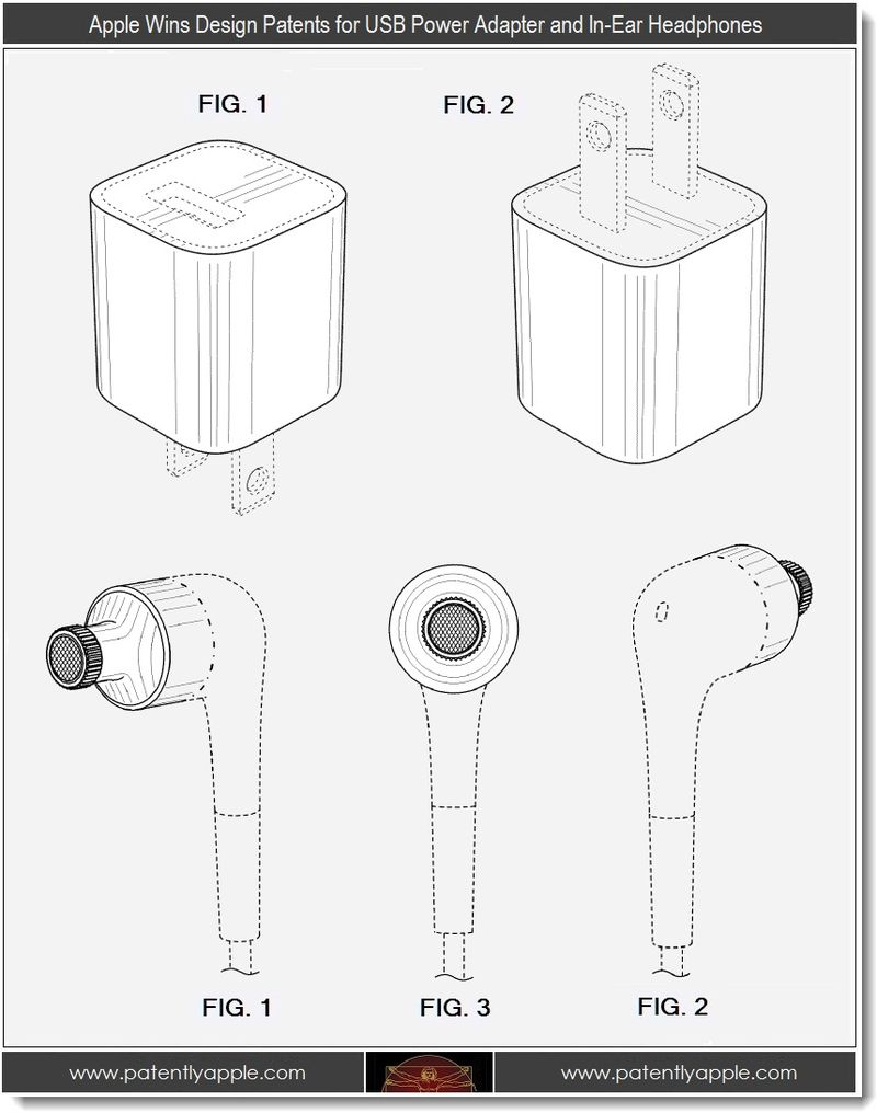 7 - Apple Wins usb power adapter and In-Ear Headphone patents