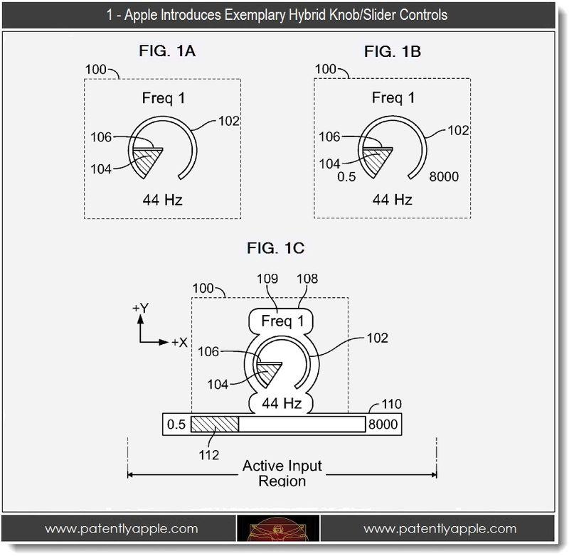2 - FIGS 1A,B,C hybrid knob-slider controls