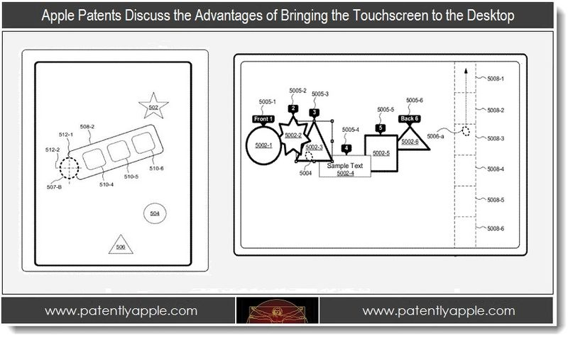 Extra - 3 Apple patents discuss the advantages of touch on a desktop