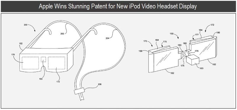 1 - Apple wins patent for iPod video Headset Display