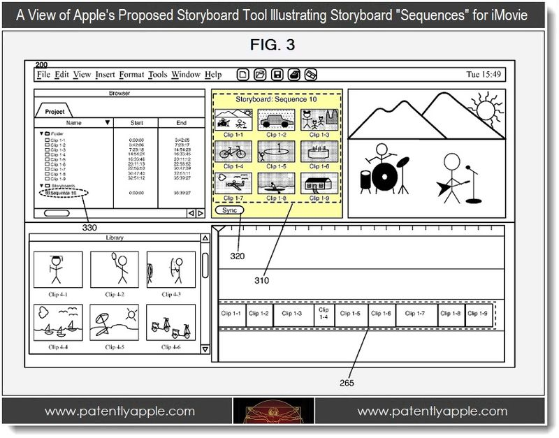 3 - Storyboard sequences GUI for iMovie