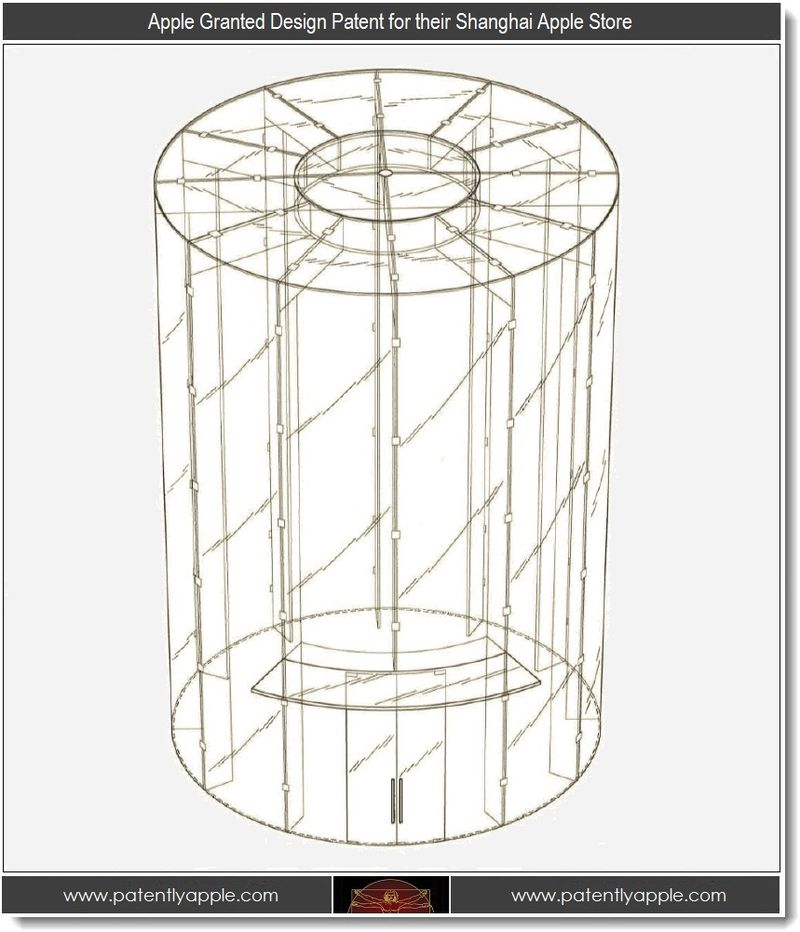 2 - Apple Granted Design Patent for their Shanghai Apple Store by US Patent Offic