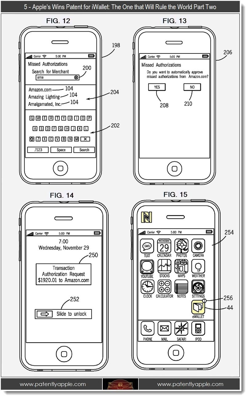 5 - Apple wins patent for iWallet, part two