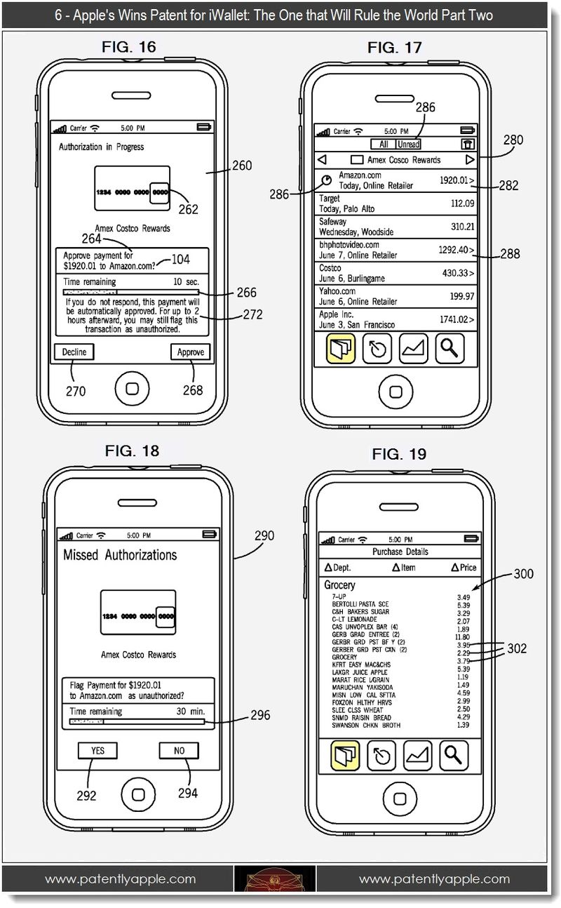 6 - Apple wins patent for iWallet, part two