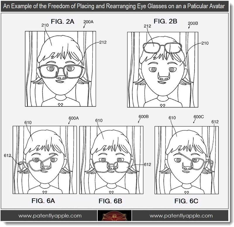 4 - Example of the freedom of placing rearranging eye glasses on a particular avatar