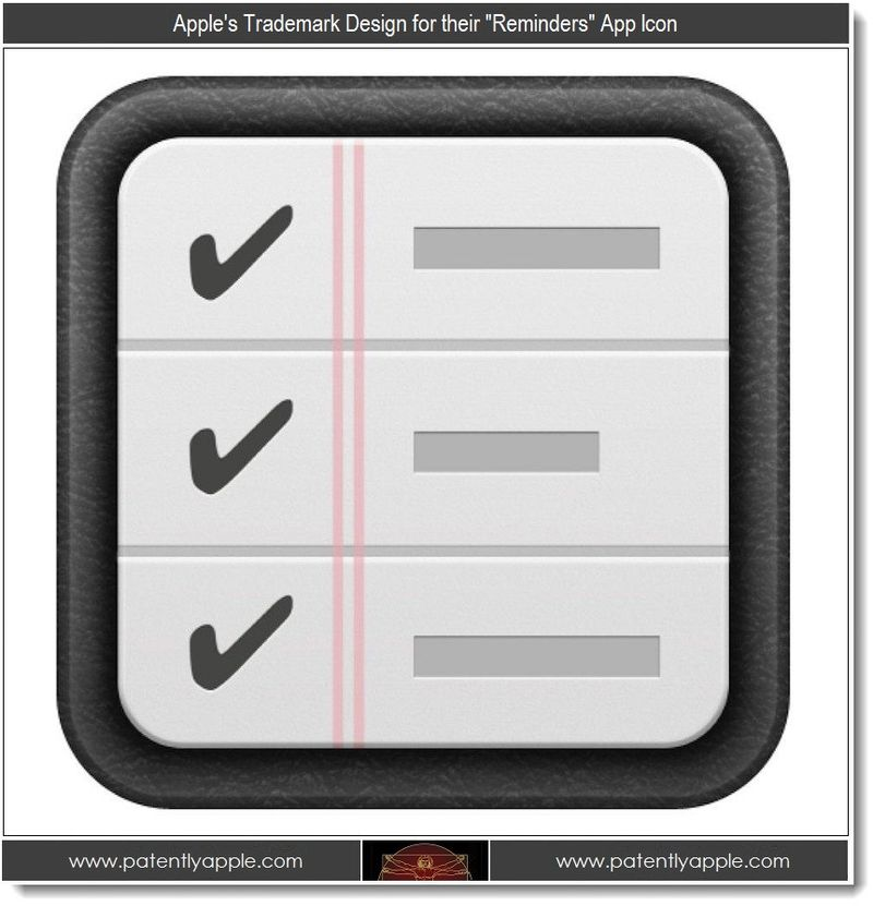 3 - Apple's TM design for Reminders App Icon