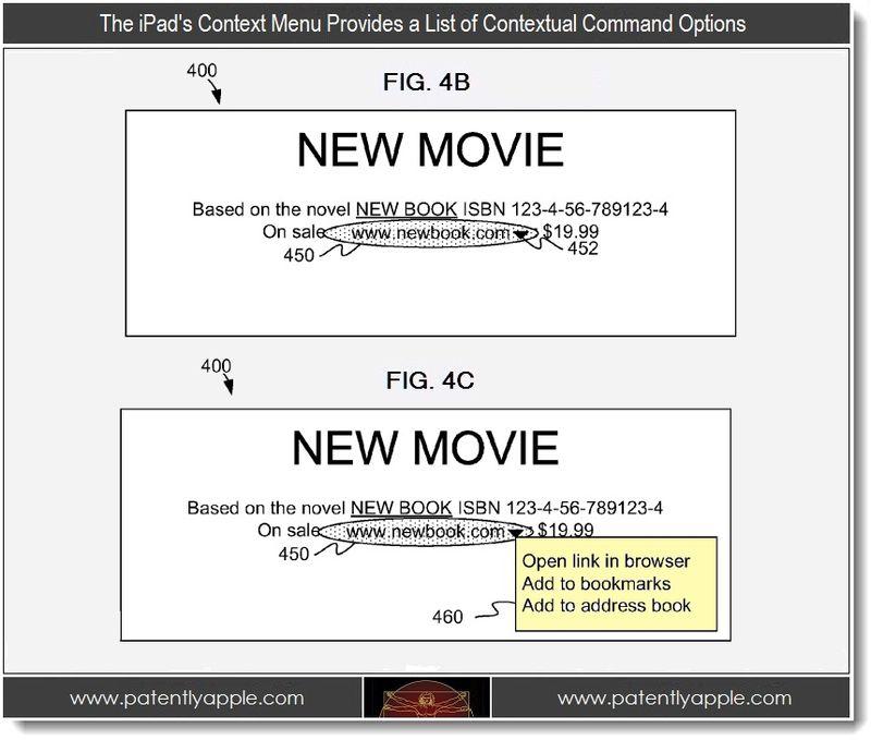 3 - Context menu provides a list of contextual commands