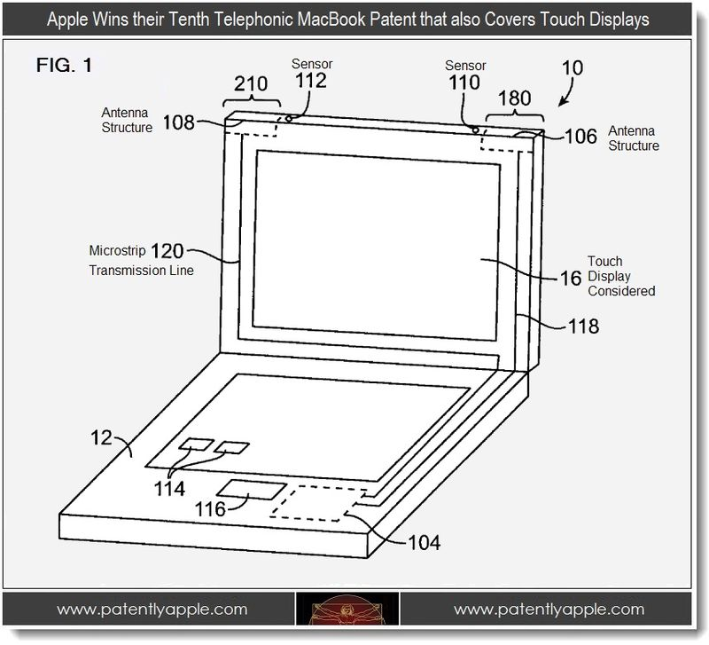 2 - Apple Wins their 10th telephonic macbook patent that also covers touch displays