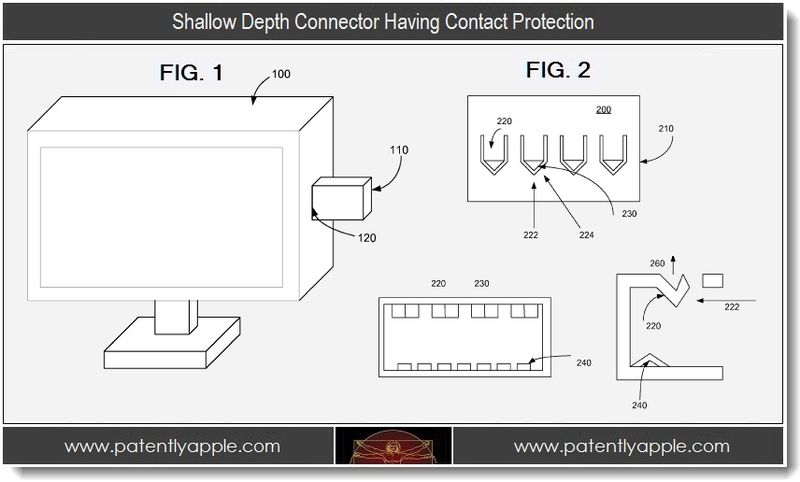 2 - Shallow depth connector having contact protection