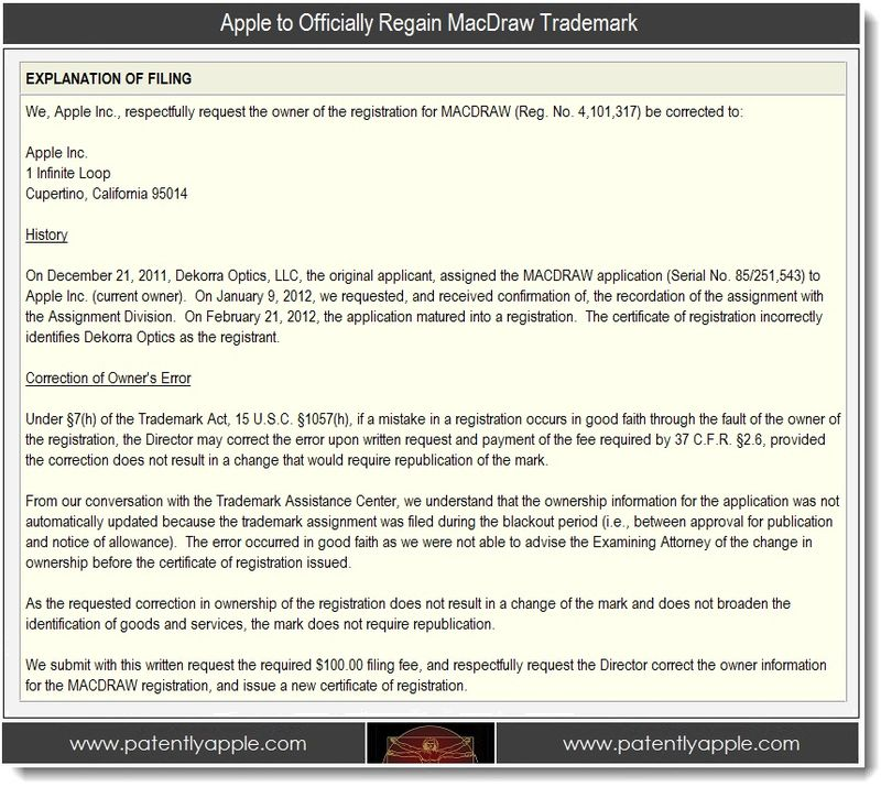 2. Apple to Officially regain MacDraw Trademark