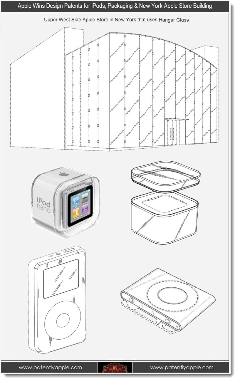 4. Apple wins design patents for NY Apple Store building, iPods & Packaging
