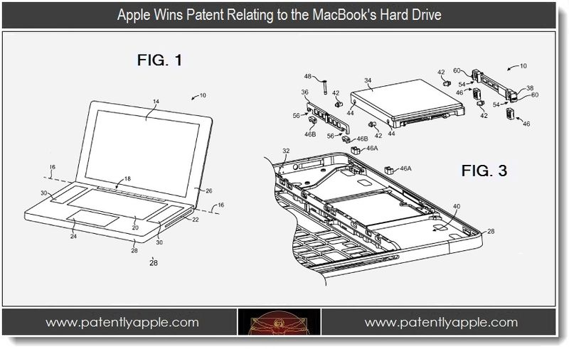 5. Apple wins patent relating to the MacBook's hard drive