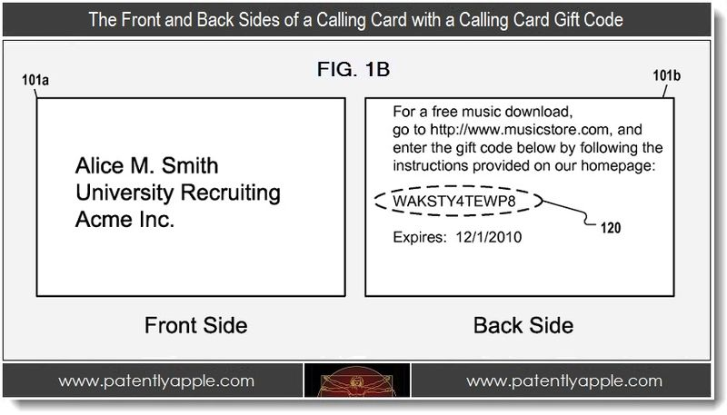 3. Front & Back sides of a calling card with a calling card gift code