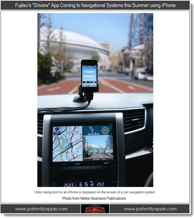 2. Fujitsu Driview App Coming to Navigational systems this summer using iPhone